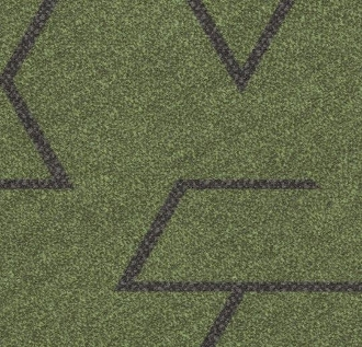 Forbo Flotex Triad Plank - Green 131003